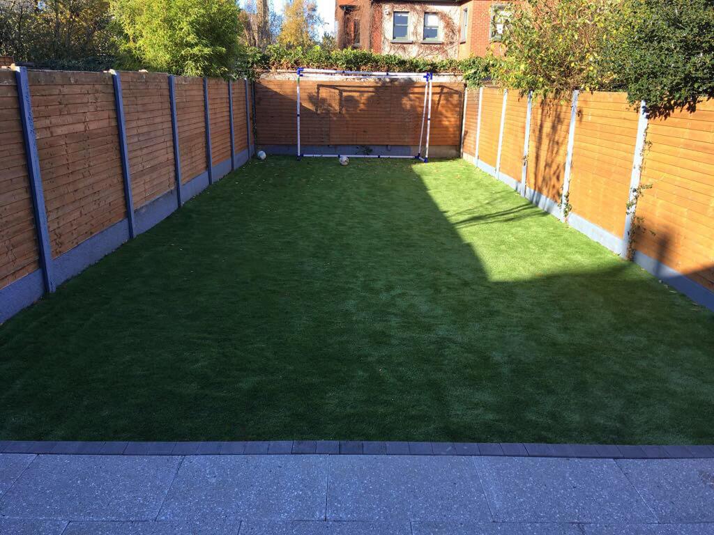 Artificial grass lawn in Sandymount