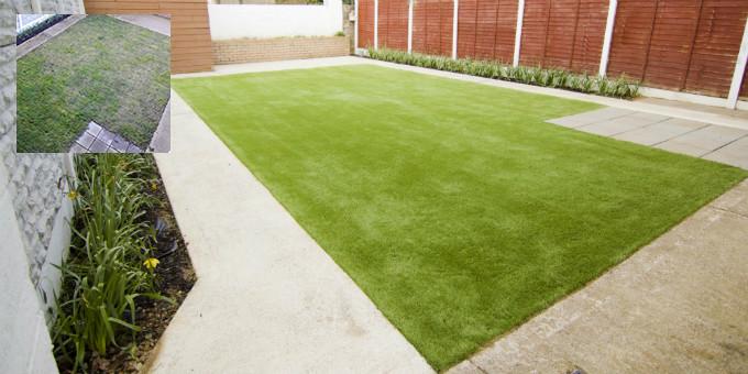 Artificial grass installation in Limerick