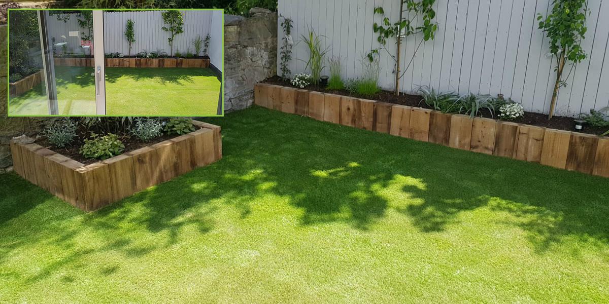 small artificial grass garden in Dublin 4