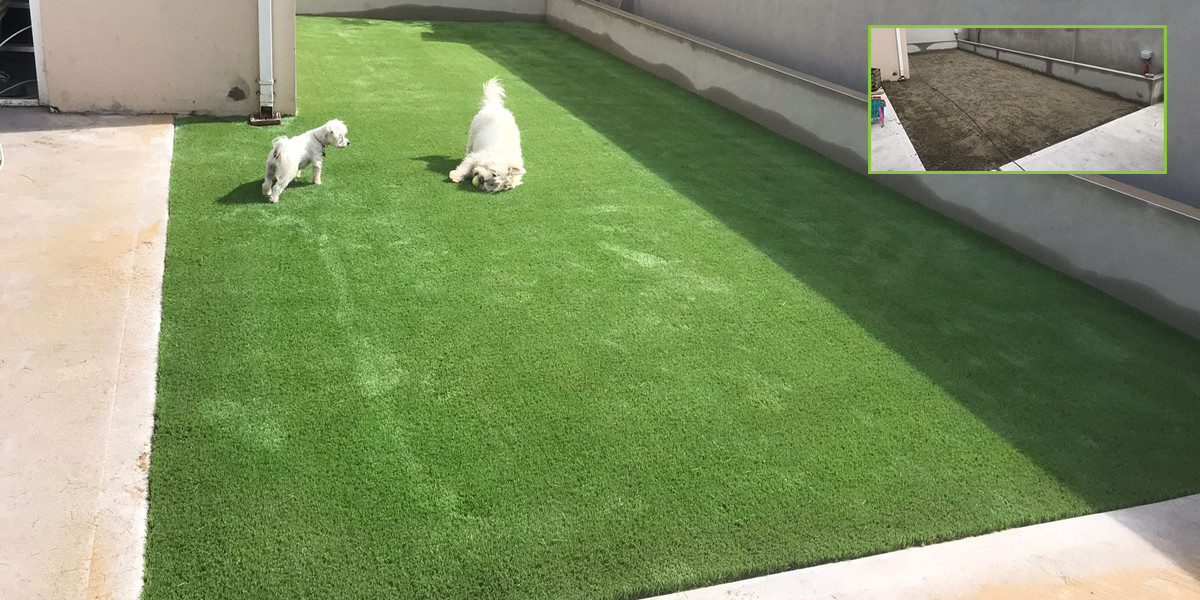 Artificial grass installation in Listowel, Co. Kerry