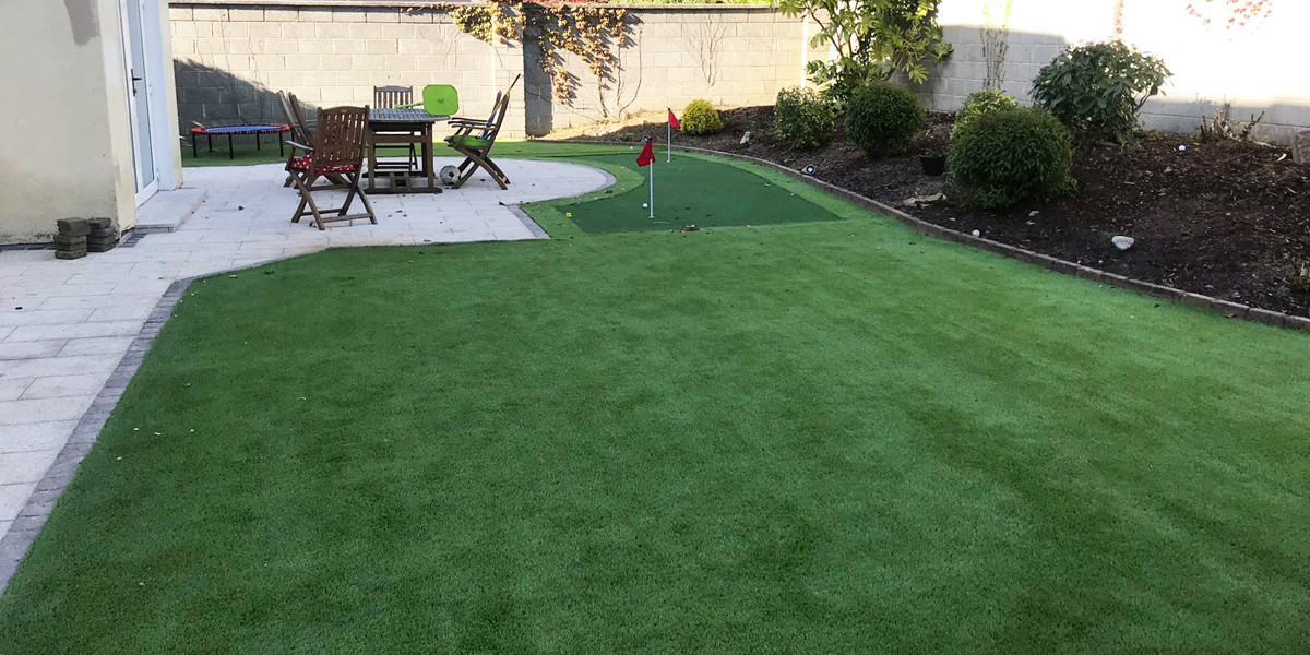 Artificial putting green in Co Laois