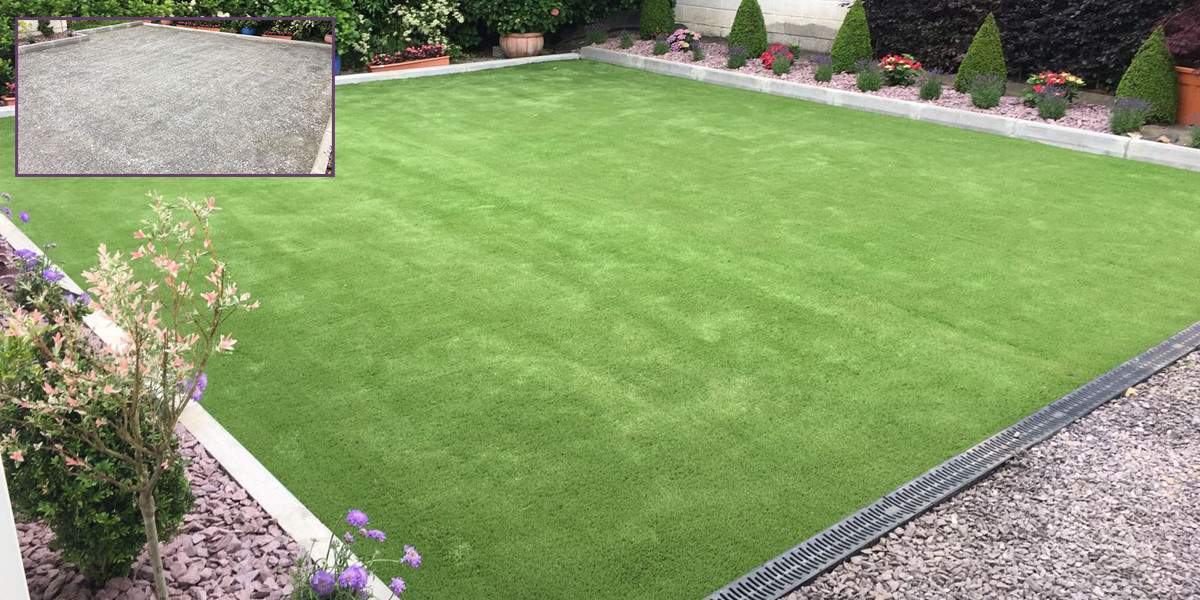 Artificial grass installation in Tralee