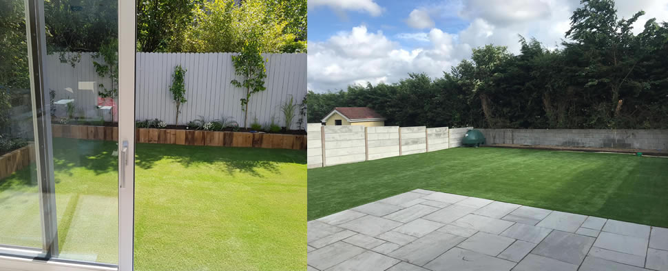 any size artificial grass garden