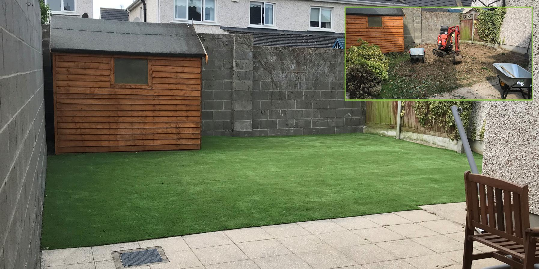 Artificial grass installation in Drogheda, Co Louth