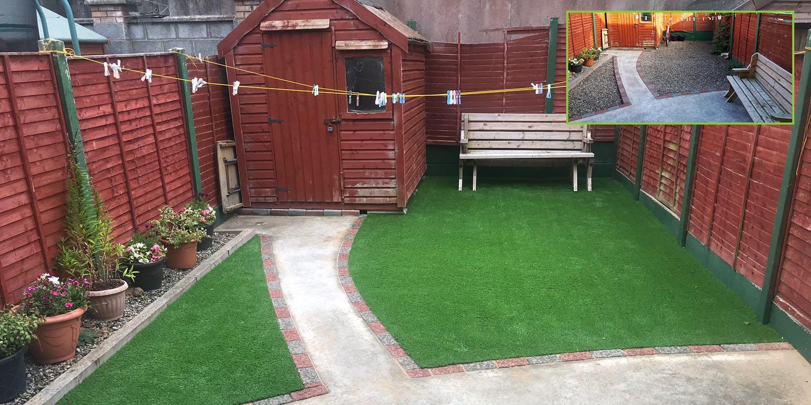 Artificial grass garden in limerick