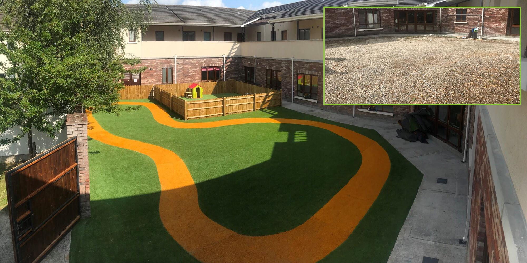 artificial grass for creche in co louth