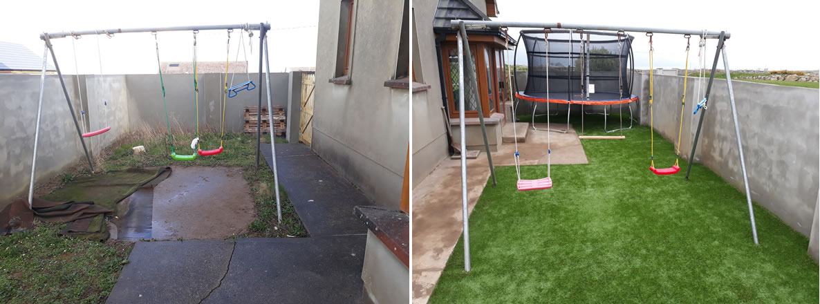 kids play area kerry - PST Lawns artificial grass