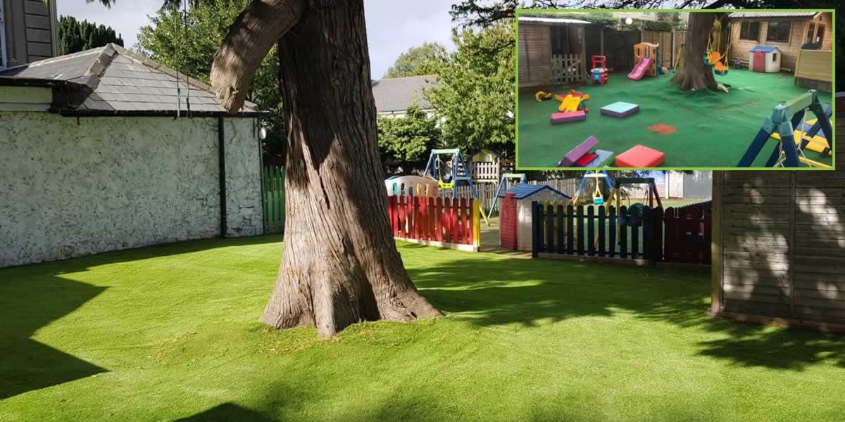 artificial grass for Dublin creche