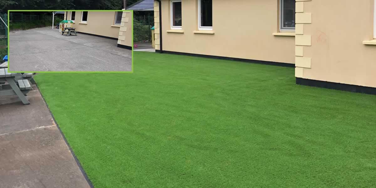 artificial grass creche play area
