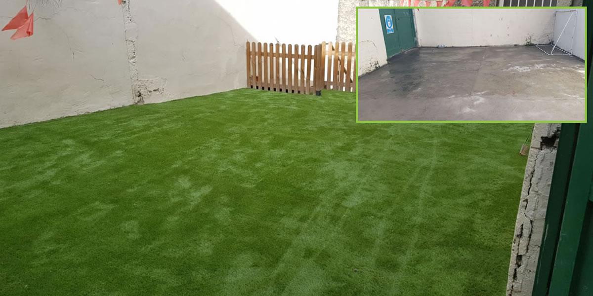 artificial grass in creche