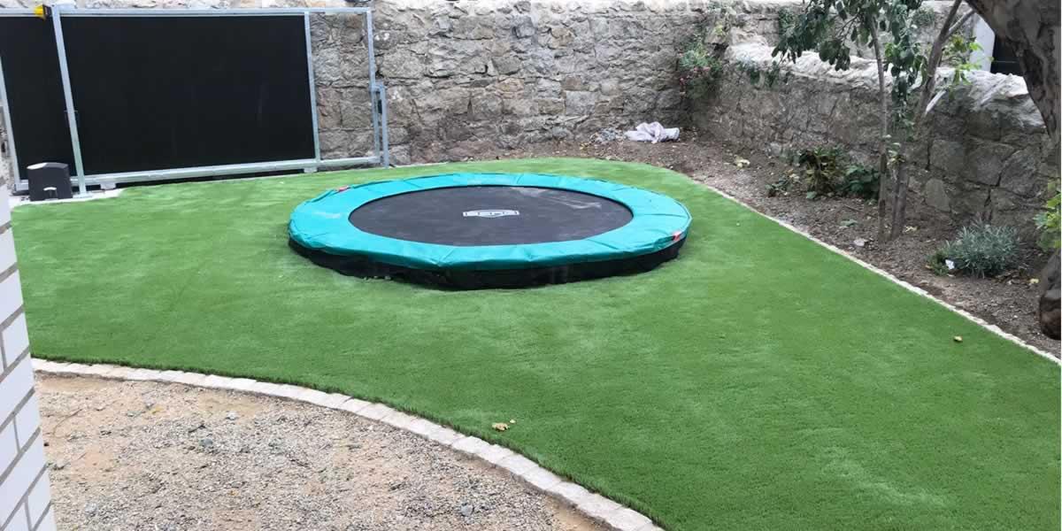 synthetic grass garden in Bray