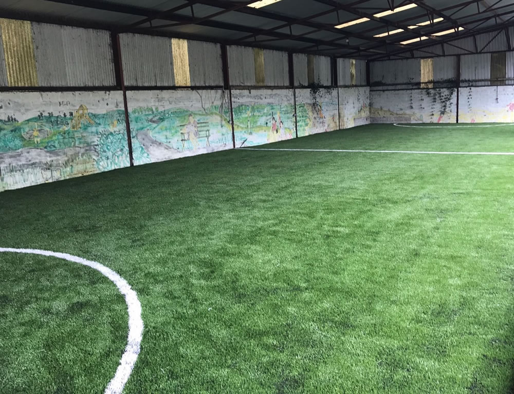 multi use artficial grass at Belan Lodge