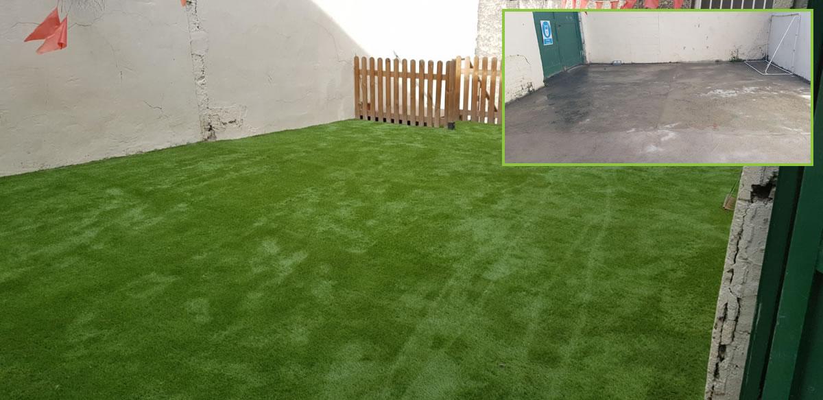 synthetic grass for creche in co Dublin