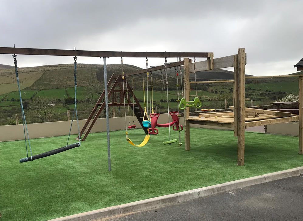 artificial grass kids play area