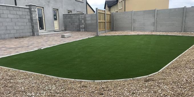 artificial grass installation in Ballybunion