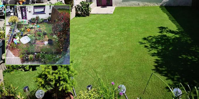 Artificial grass - Tallaght garden installation