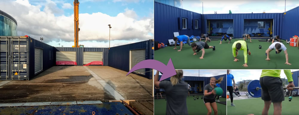 Artificial gym grass at the Irish Sailing Foundation, Dun Laoghaire