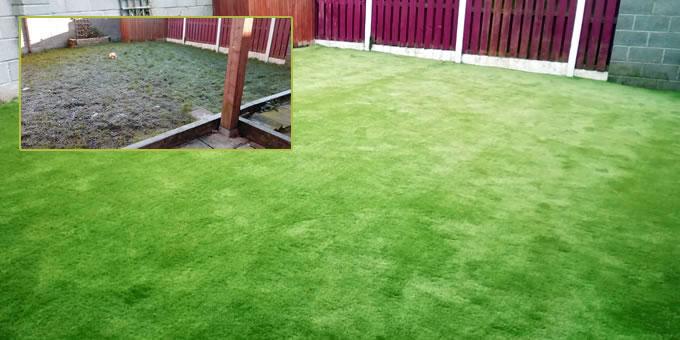 Artificial grass installation project in County Kildare