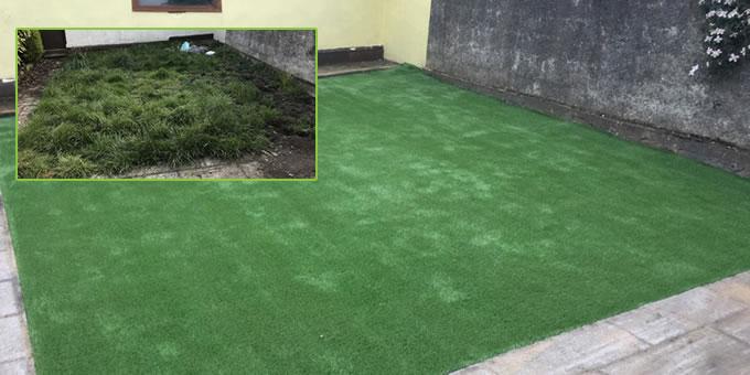 Artificial grass lawn in Phibsboro, County Dublin