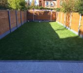 Artificial grass lawn in Sandymount