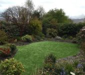 PST Lawns artificial grass garden in Tralee