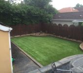 PST Lawns artificial grass garden in Belfast