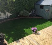 Artificial grass for gardens by PST Lawns