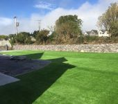 Large artificial grass garden installed by PST Lawns in Tralee