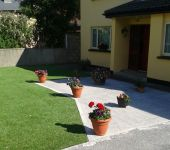 Artificial grass garden in Tralee - installed by PST Lawns