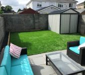 artificial grass installation project Dublin